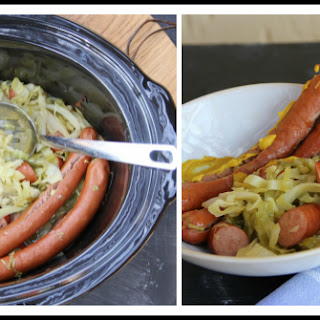 Slow-Cooked Smoked Sausage & Cabbage.