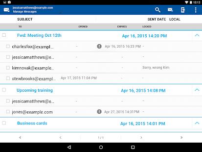 Business Class Email (BCE)- screenshot thumbnail