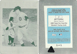 Photo: Bill Freehan 2005 Topps Fan Favorites Printing Plates Cyan (1/1)