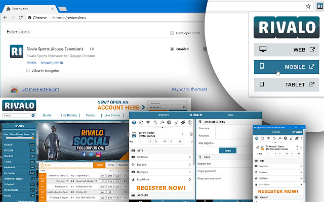 Rivalo Sports (Access Extension)