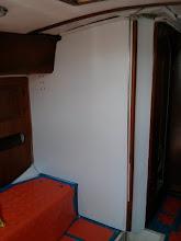 Photo: Port bulkhead painting complete.