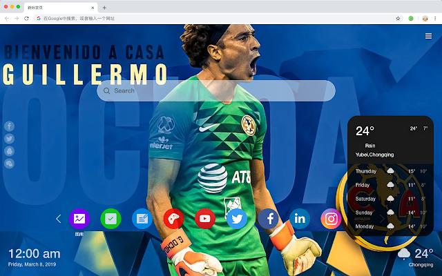 Club de Futbol América New Tab Theme HD