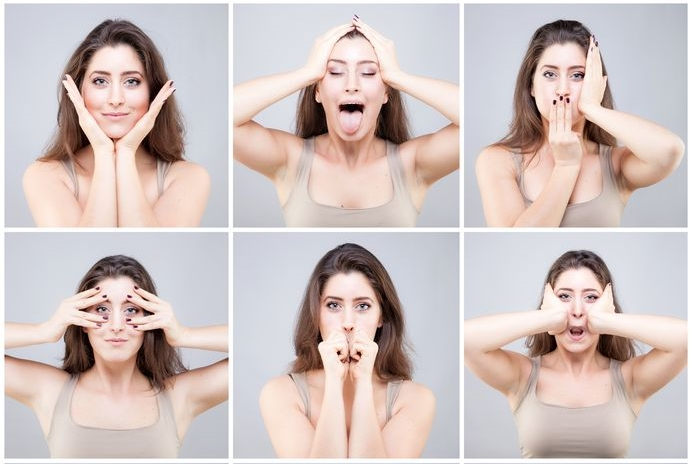 Some facial exercises can look fairly comical, but who cares as long as they work.