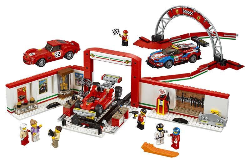Contenido de Lego® 75889 Taller definitivo de Ferrari