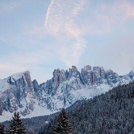 Morning in the Dolomites by Stefan Sorean - Landscapes Mountains & Hills ( alps, trekking, di, panoramic, tourism, clouds, summit, scenic, sun, summer, rock, beautiful, mountain, view, cinque, tofane, white, tofana, torri, vacation, ridge, europe, italy, park, meadow, group, sky, dolomites, green, nature, european, hiking, peak, stone, outdoor, rozes, blue, alpine, dolomite, valley, travel, dolomiti, landscape )
