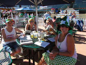 Photo: Fans at Turf Paradise get an early start on Saint Patrick's Day Saturday. Photo by Turf Paradise