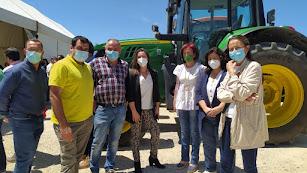 Fotografía de la concentración organizada por las organizaciones agrarias desarrollada en Vélez Rubio.