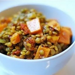 Gluten Free Lentil and Sweet-Potato Stew Lunch