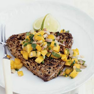 Seared Tuna with Papaya Salsa