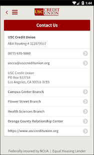USC Credit Union Mobile- screenshot thumbnail