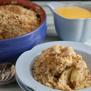 Apple Crumble With Fennel.