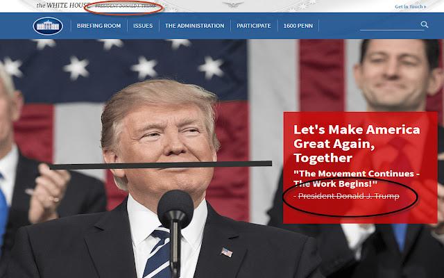 Strikethrough Trump