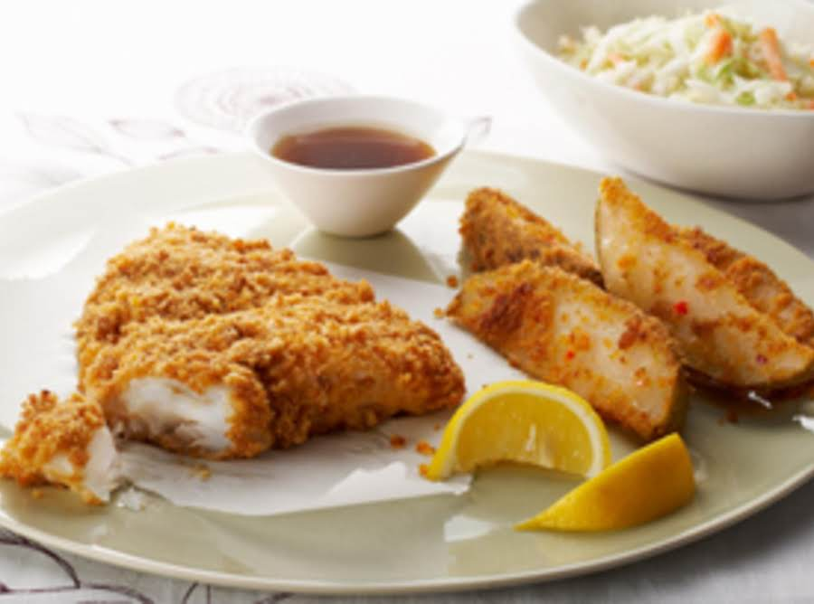Oh so easy baked fish chips recipe just a pinch recipes for Side dishes for baked fish
