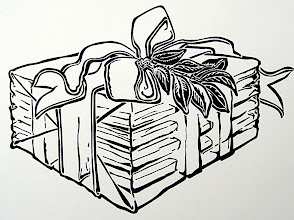 Photo: This is the black and white version of the outside of a card that the Union-Tribune sent out to several tens of thousands of vendors, commemorating the 25th anniversary of being at the Fashion Valley site. One cool (unplanned) visual effect is, most people thought it was a stack of gift-wrapped newspapers, when instead it was...