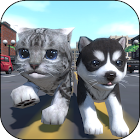 Cute Pocket Cat And Puppy 3D icon