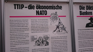 Photo: TTIP = the economical NATO = north atlantic terror organization ~ http://jarogruber.blogspot.de/2016/05/laborday.html