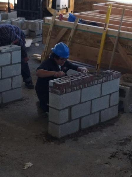 Photo: Joel Romero practicing for masonry