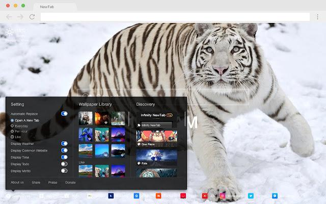 Tiger HD New Tabs Popular Animals Themes