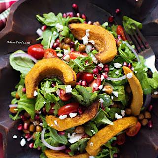 Middle Eastern Roasted Pumpkin and Feta Salad