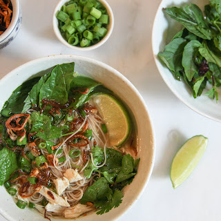 Quick Light Chicken Pho | Vietnamese-Style Chicken Noodle Soup with Fresh Herbs Recipe