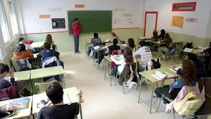 Imagen de archivo de un aula de instituto.