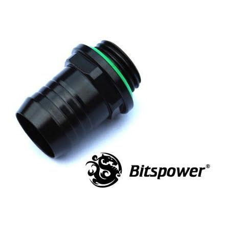 """Bitspower nippel, 1/4""""BSPx1/2""""ID, Matt Black"""