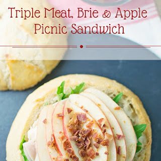 Triple Meat with Brie Picnic Sandwich