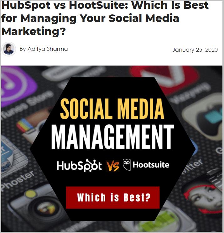HubSpot so với HootSuite