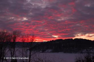 Photo: Sunset over Drammensfjorden