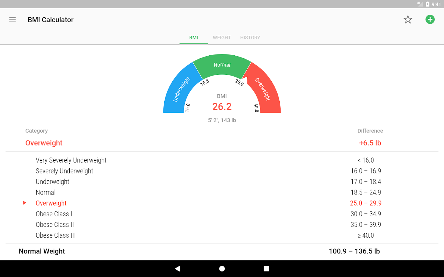 Bmi Calculator & Weight Loss Tracker Screenshot