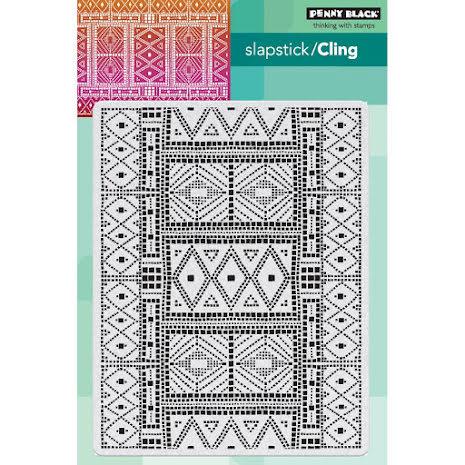 Penny Black Cling Stamps 5X7 - Mosaic Pattern UTGÅENDE