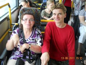 """Photo: 13 VI 2011 roku -  jadę z Mateuszem do """" ARKI """" przy  ul. Jutrosińskiej we Wrocławiu"""