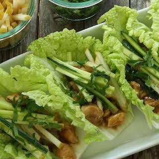 Peanut-Chicken Cabbage Wraps.