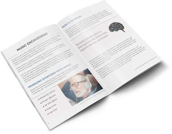 printed copy of music for dementia caregivers guide