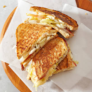 Muenster, Cabbage And Apple Sandwiches.
