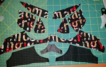 Photo: patroondelen voor de bh pattern parts for the bra