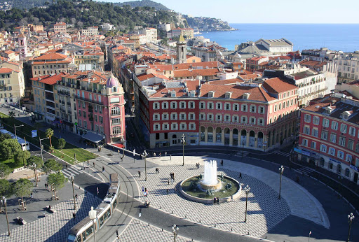 France-Nice-Massena-Square.jpg - Massena Square in Nice is a hub of local transportation and commerce.