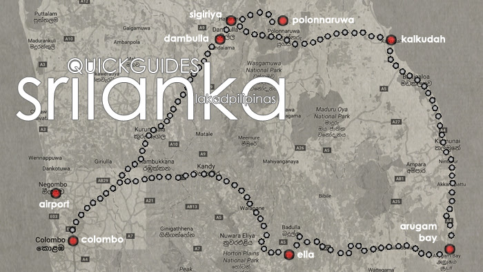 Sri Lanka 2 Weeks Itinerary Map