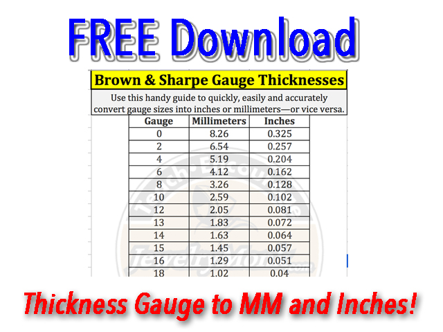 Wire And Sheet Thickness Chart Opt In
