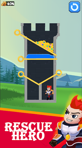 Hero Rescue - pull the pin puzzle game screenshots 2