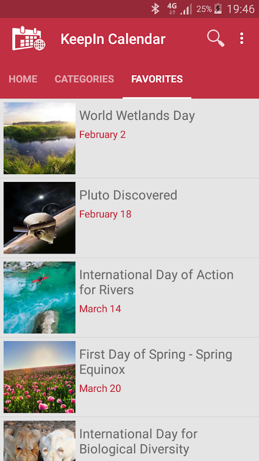 International Holiday Calendar- screenshot