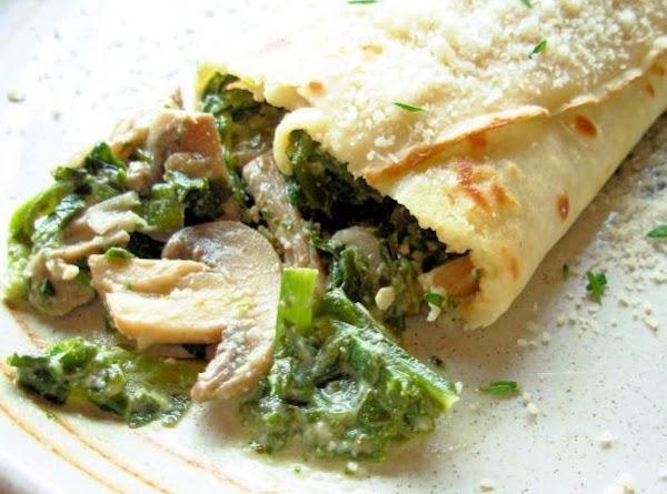 Savory Mushroom, Spinach & Cheese Crepes Recipe