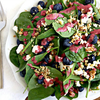 Blueberry Spinach Salad with Blueberry Vinaigrette Recipe