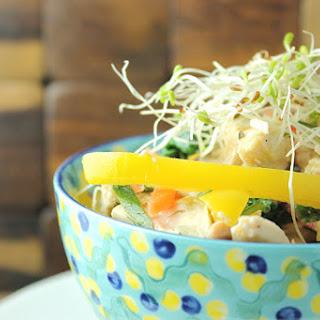 Shredded Chicken Primavera Bowl.