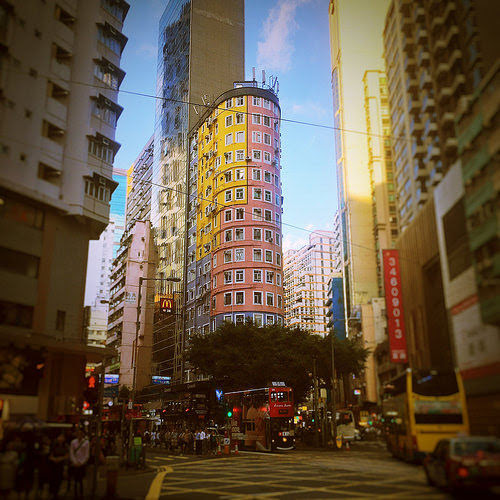 Rounded Corner Building,  Wanchai Road, johnston road, hong kong, buildings, round, 圓角樓, 灣仔道, 香港, 莊士敦道