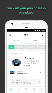 Sift - Get Automatic Refunds When Prices Drop- screenshot thumbnail