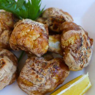 """Cauliflower Karaage (Non-Fried Japanese """"Fried Chicken"""")."""