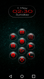 Brenn Red - Icon Pack screenshot 0