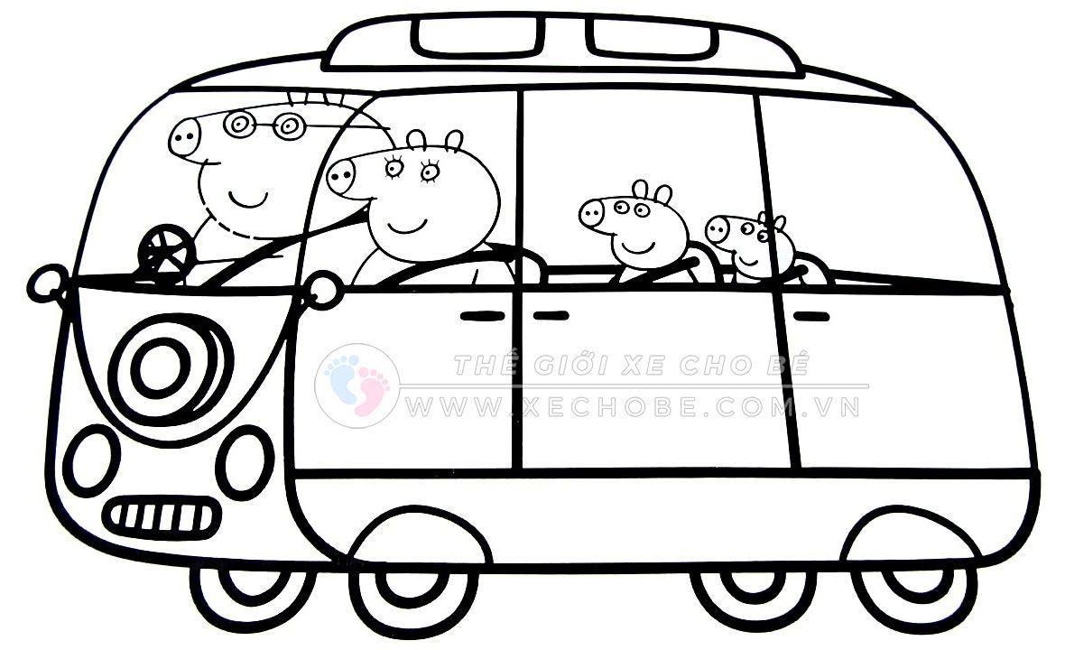 Tranh tô màu xe ô tô cho bé 4