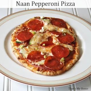 Naan Pepperoni Pizza